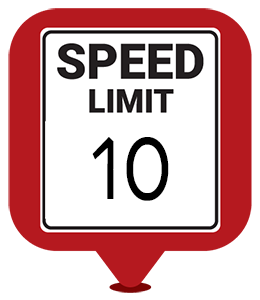 please follow the posted speed limits at campground of the rockies